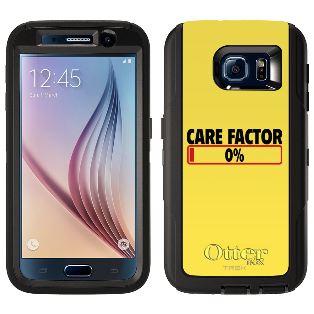 SKIN DECAL FOR Otterbox Defender Samsung Galaxy S6 Case - Care Factor Progress Bar DECAL, NOT A CASE