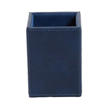Crocodile Leather Pencil Cup - Staples Pencil Cup Faux Leather Blue 2741266