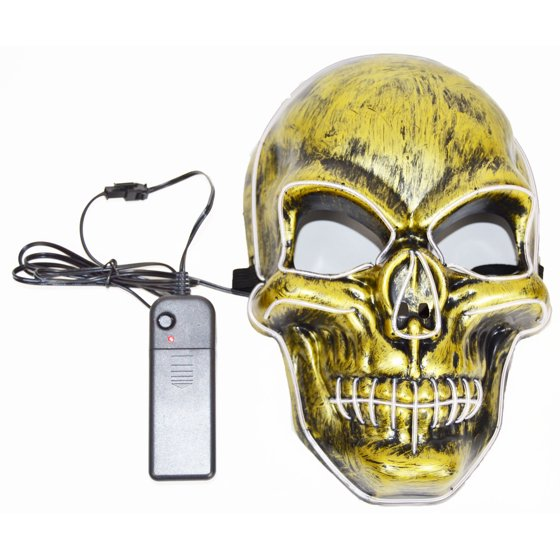 GlowCity Light Up EL Wire Super Cool Skull Mask For Halloween ...