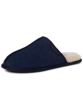 Alpine Swiss Mens Suede Memory Foam Scuff Slippers Comfort Slip On House Shoes