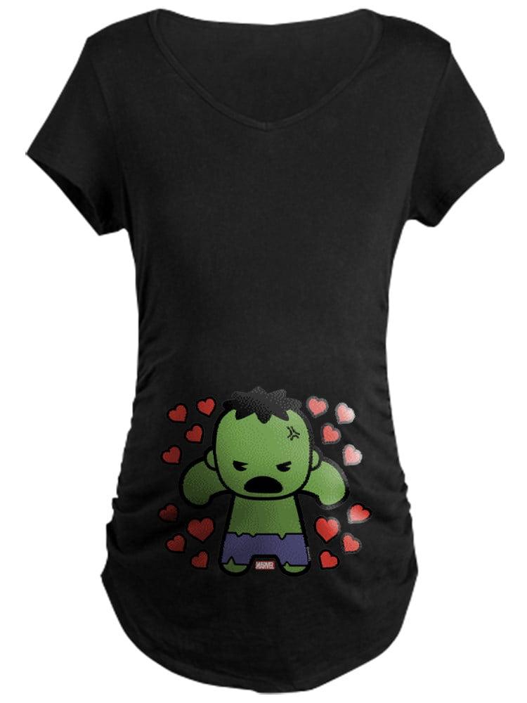 CafePress - Hulk Hearts - Maternity Dark T-Shirt
