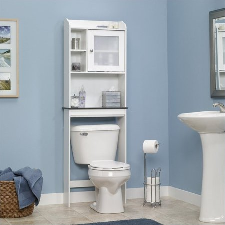 sauder caraway space saver bathroom cabinet soft white