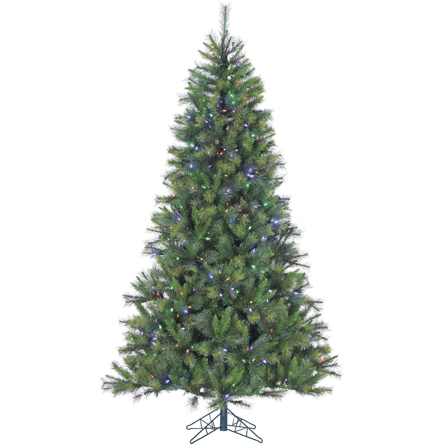 Fraser Hill Farm Pre-Lit 7.5' Canyon Pine Artificial Christmas Tree with Multi-Color LED String Lighting
