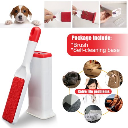 Dog & Cat Hair Remover with Self-Cleaning Base Brush Removes Pet Fur & Lint from Clothes &