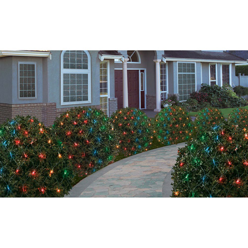 Holiday Time 200-Count Heavy Duty Net Christmas Lights, Multi-Color