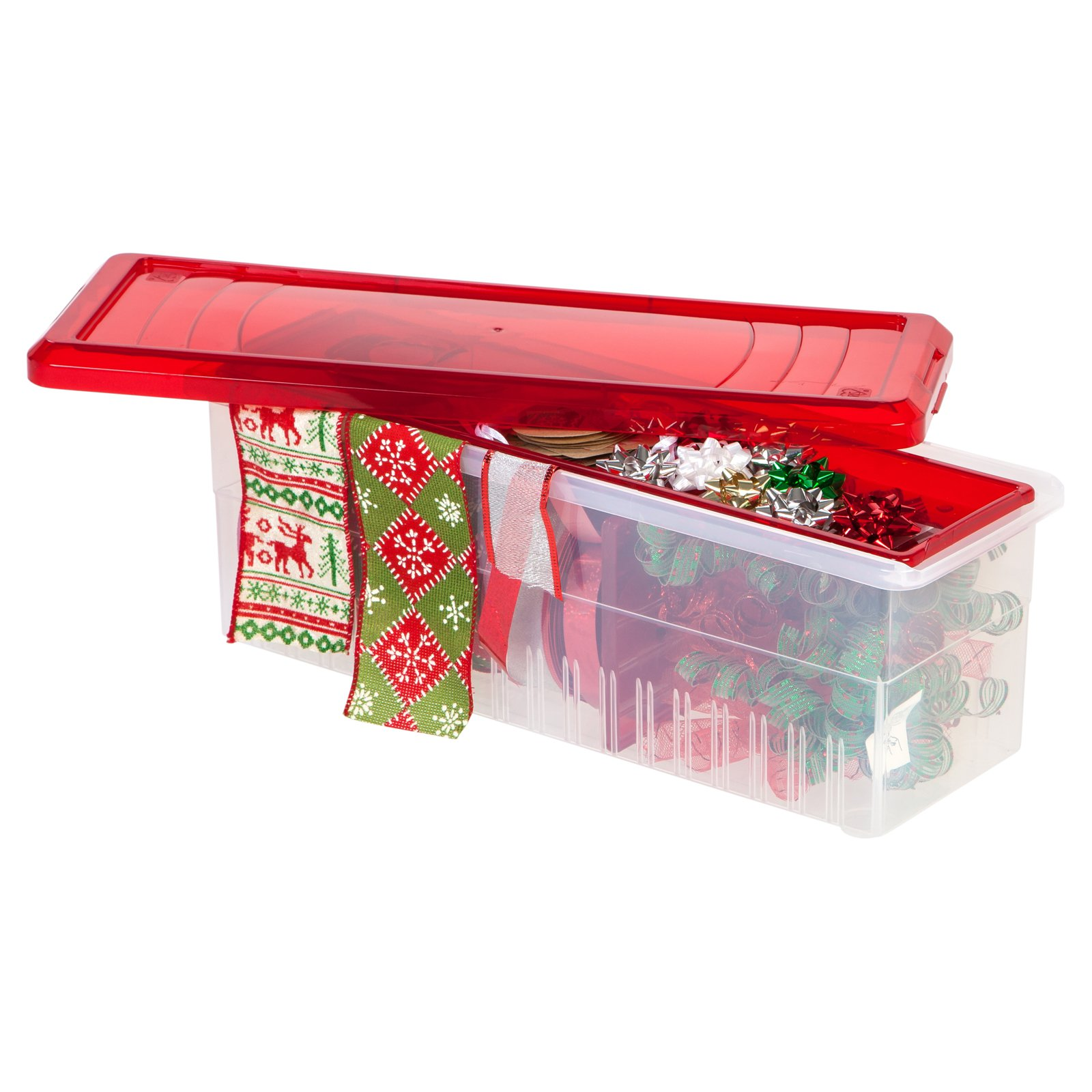 IRIS Ribbon Storage Box, Red