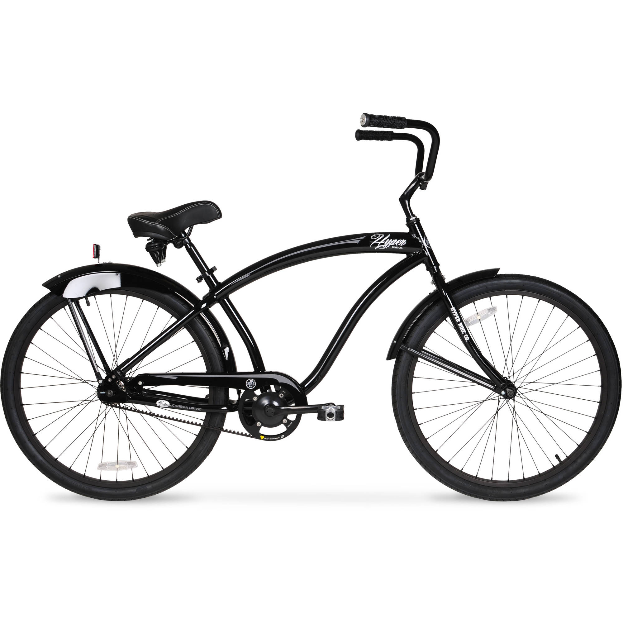 "26"" Men's Hyper HBC Belt Drive Bike, Gloss Black"