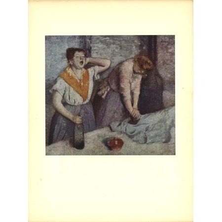(Edgar Degas-Two Laundresses-Poster)