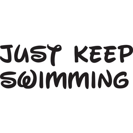Keep Swimming Finding Nemo Cartoon Movie Quote Custom Wall Decal Vinyl Sticker 6 Inches X 14 Inches