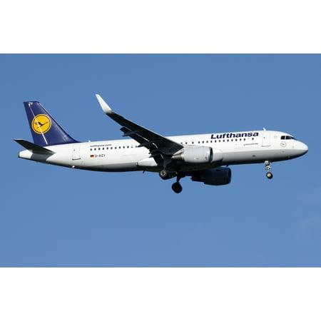 A Lufthansa Airbus A320-200 sharklet Canvas Art - Luca NicolottiStocktrek Images (18 x 12)