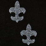 Expo Int'l Rhinestone Transfer Fleur de Lis Iron-on Applique Pack of 2