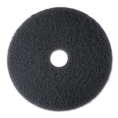3M High Productivity Black Floor Pad 7300, 19