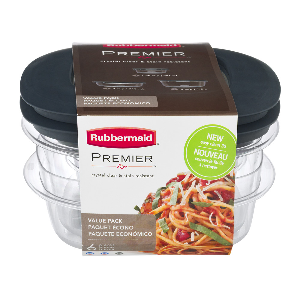 Rubbermaid Crystal Clear & Stain Resistant - 6 PC, 6.0 PIECE(S)