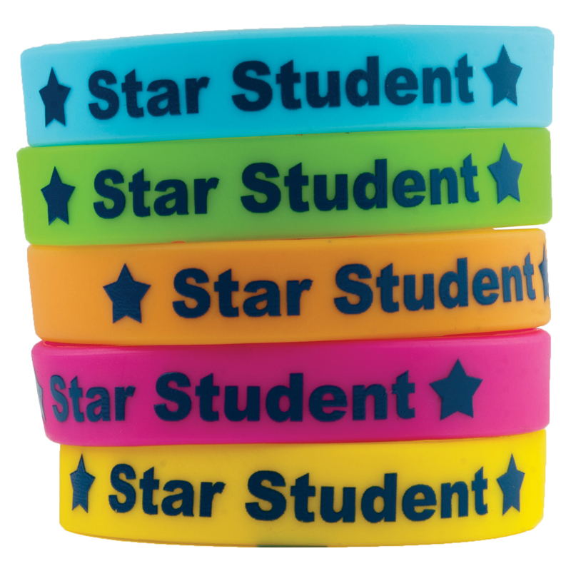 STAR STUDENT WRISTBANDS 10/PK