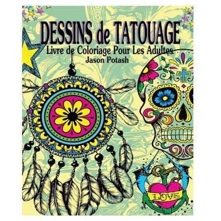 Dessins De Tatouage Livre De Coloriage Pour Les Adultes