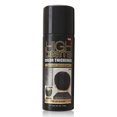 High Beams Temporary Spray On Hair Color Thickener, 10 Jet Black, 2.7 Oz