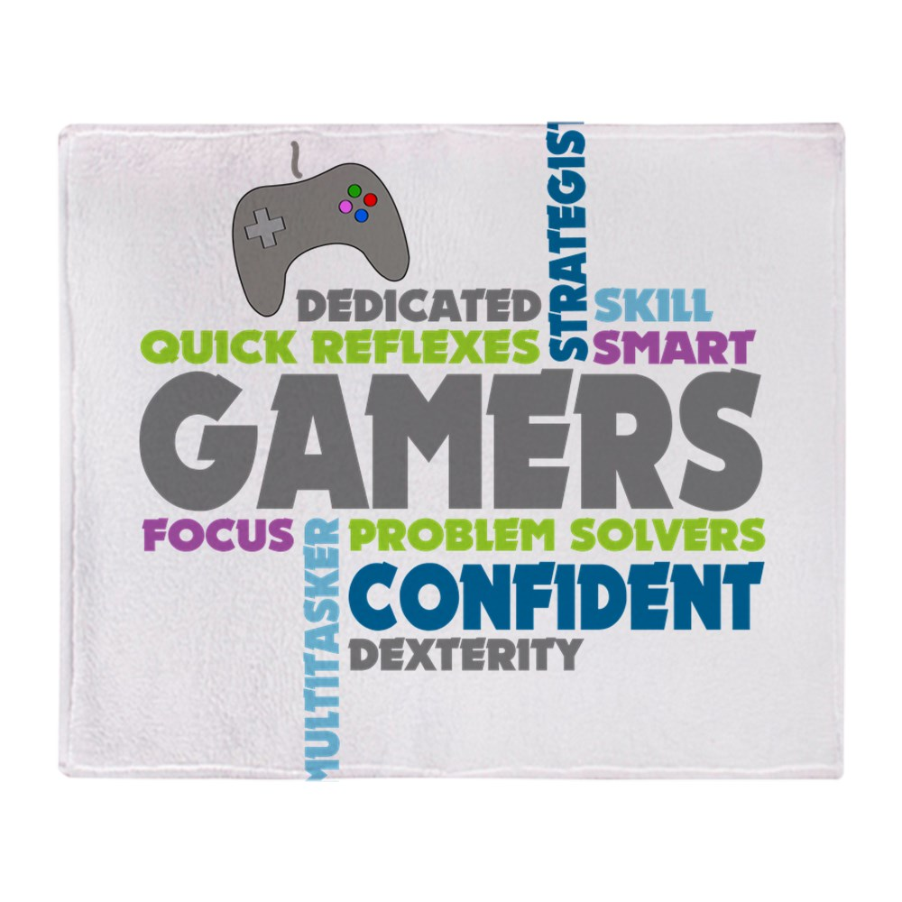 "CafePress Gamers Soft Fleece Throw Blanket, 50""x60"" Stadium Blanket by"