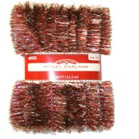 Long Length 40' Red and Silver Christmas Garland