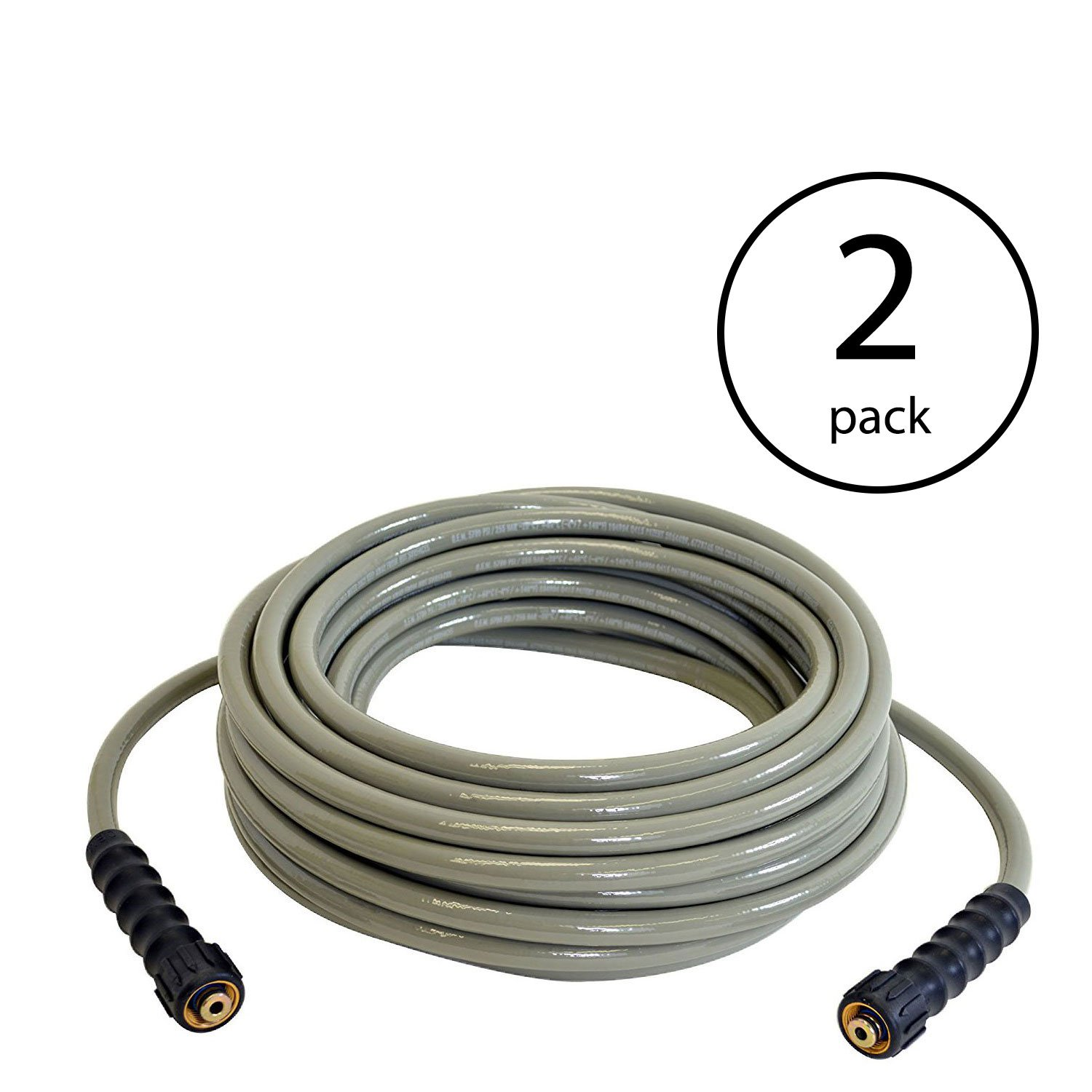 Simpson Cleaning MorFlex 3700 PSI 50 Foot Home Pressure Washer Hose (2 Pack)