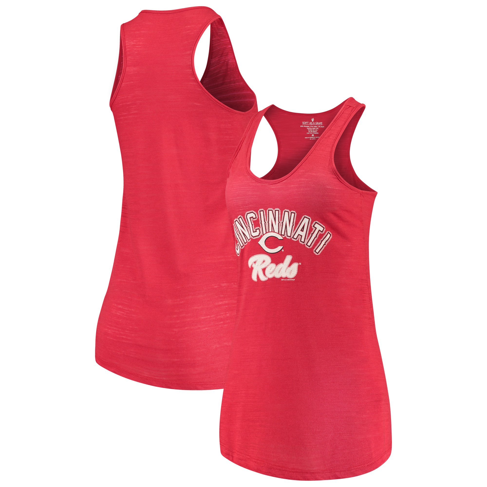 Cincinnati Reds Soft as a Grape Women's Multicount Racerback Tank Top - Red