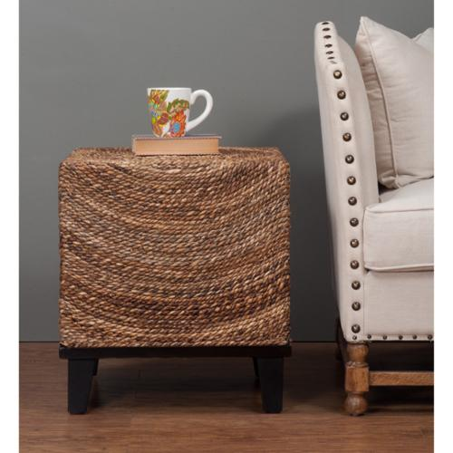 Crafted Home Elkton Natural Woven Woodgrain Square Accent Table