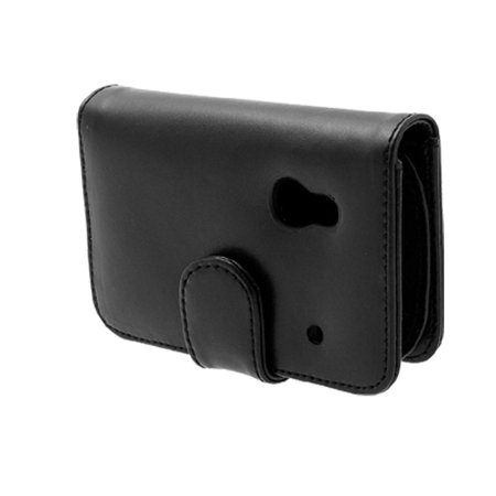 Magnetic Closure Faux Leather Case Black for PDA Phone Dopod S1