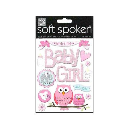 MAMBI Sticker Soft Spoken Baby Girl Animals - Baby Girl Scrapbook Ideas