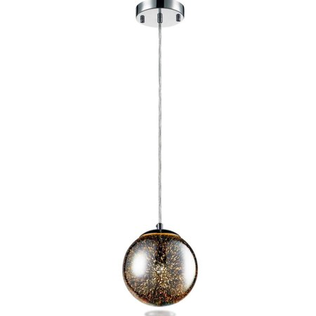 - Serene Life Pendant Light / Hanging Lamp Ceiling Light Fixture, Sculpted Glass Lighting Accent Dome