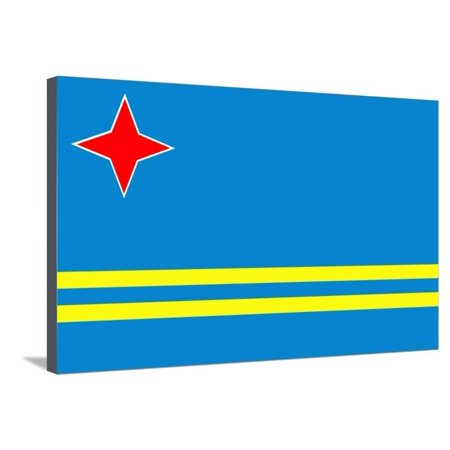 Aruba Flag Stretched Canvas Print Wall Art By Peter