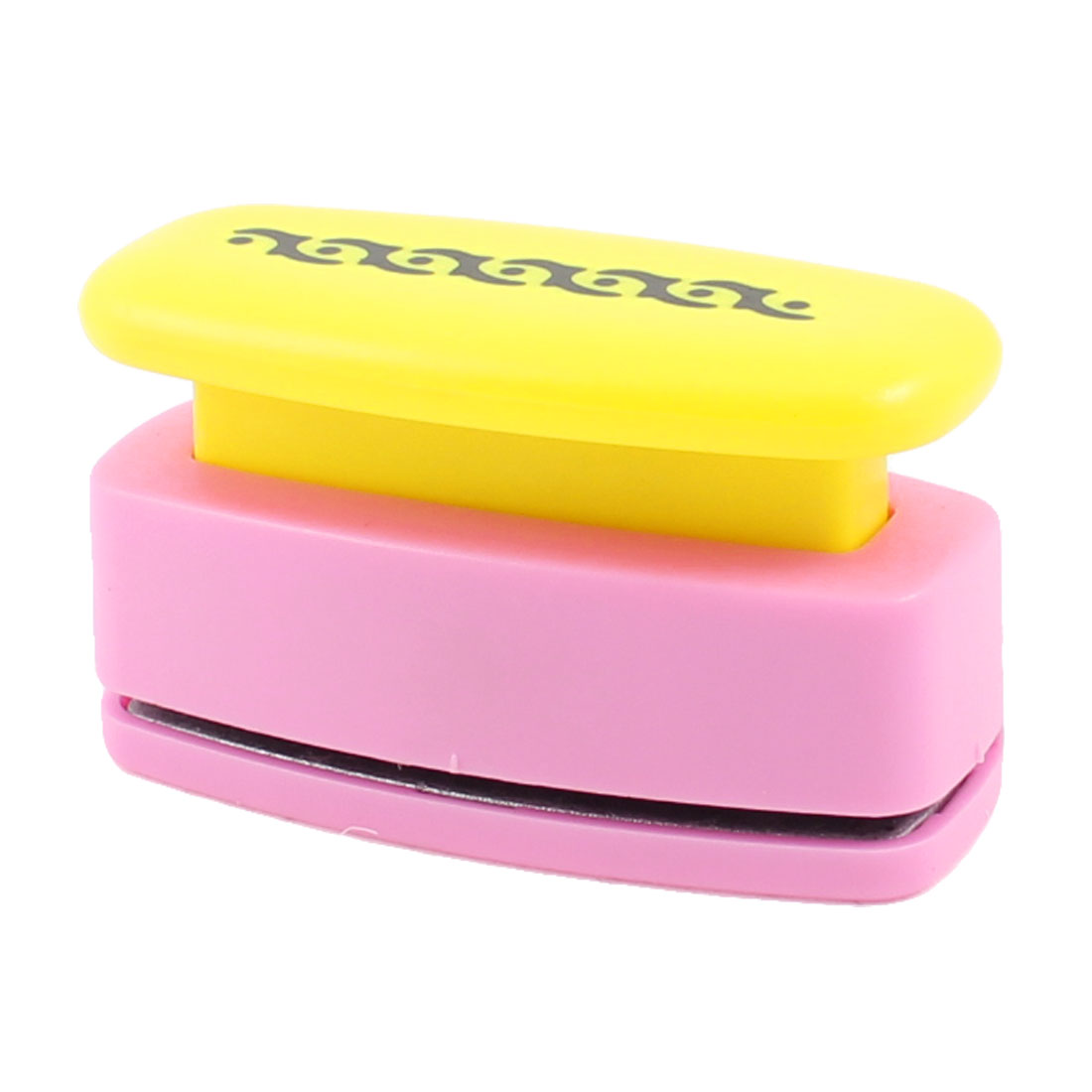 Plastic Housing Novelty Printed Yellow Pink Paper Card Craft Punch Stamp