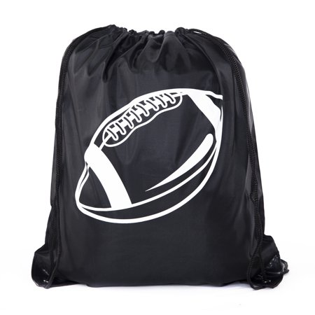 Football Party Bags | Football Drawstring Cinch Backpacks for Team Events, Birthdays, and More! (Football Treat Bags)