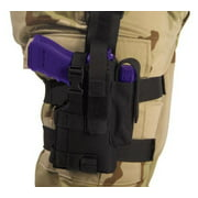 Elite Survival Systems Thigh Holster, Right Hand, Black - For Glock & Similar w/