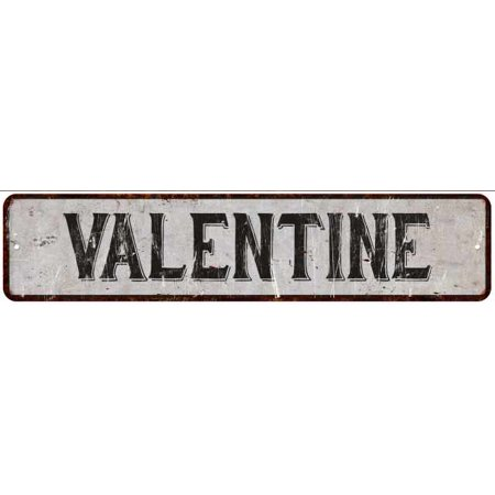 VALENTINE Street Sign Rustic Chic Sign Home man cave Decor Gift White M41805555