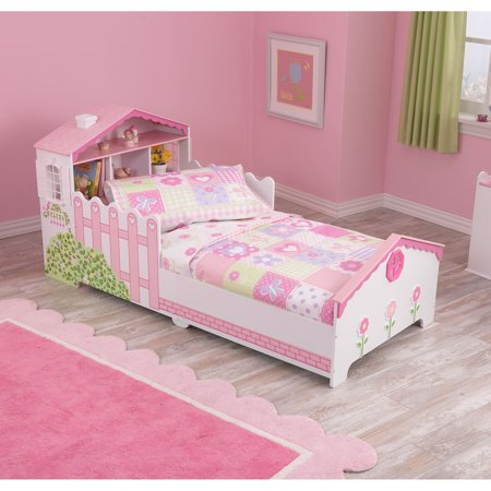 innovative toddler girl bedroom sets | KidKraft Dollhouse Cottage 3-Piece Toddler Bedding Set ...