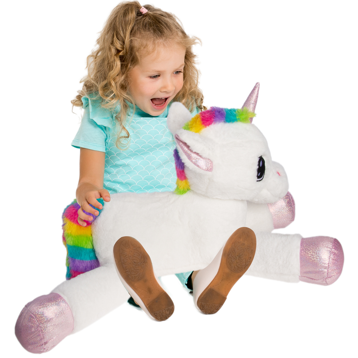 Gitzy 25 Inch Large Unicorn Stuffed Animal for Kids Adults Toddler Plush Toy Pillow Home Travel