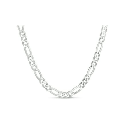 Sterling Silver Figaro 140 Gauge Chain Necklace 30 Inches