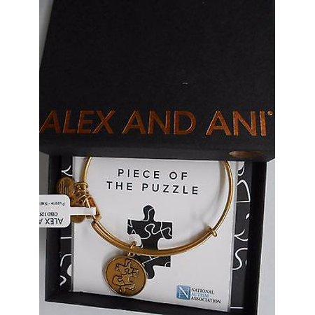 Alex And Ani Piece Of The Puzzle Charm Expandable Bangle Bar Bracelet