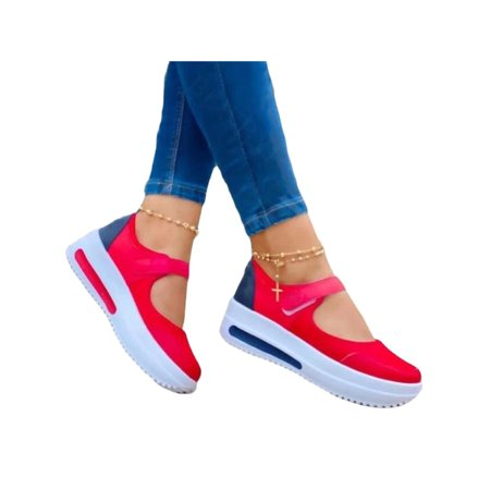 LUXUR Womens Wedge Heel Casual Loafers Shoes Summer Holiday Walking Breathable Sandals