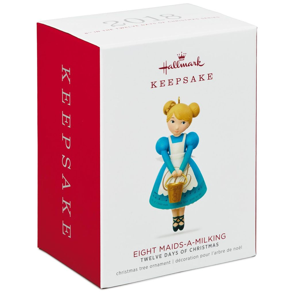 Hallmark Keepsake 2018 Twelve Days of Christmas Eight Maids-a-Milking Ornament