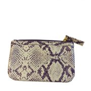 Estee Lauder Purple and White Small Animal Print Makeup Cosmetic Bag