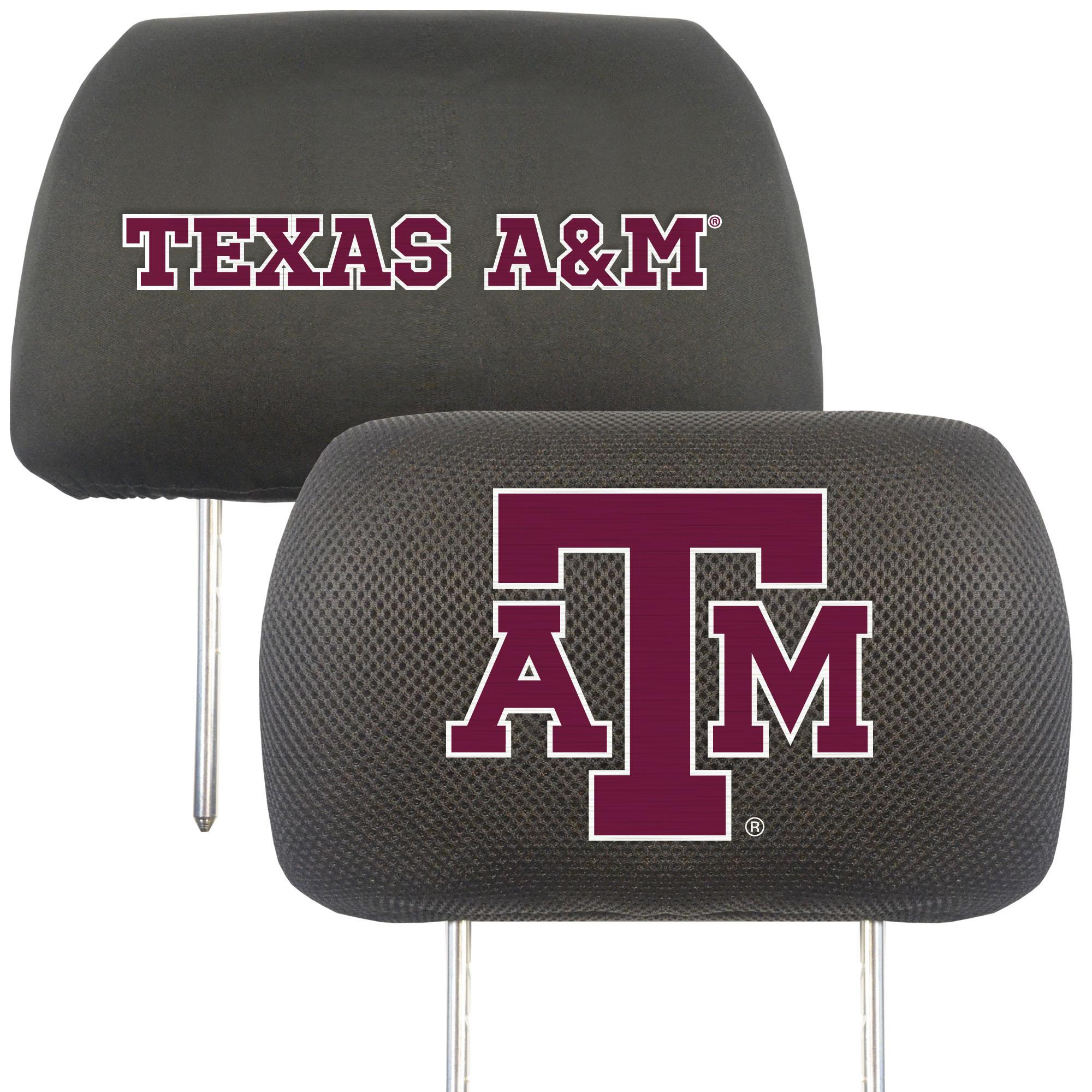 NCAA Texas A&M University Aggies Head Rest Cover Automotive Accessory