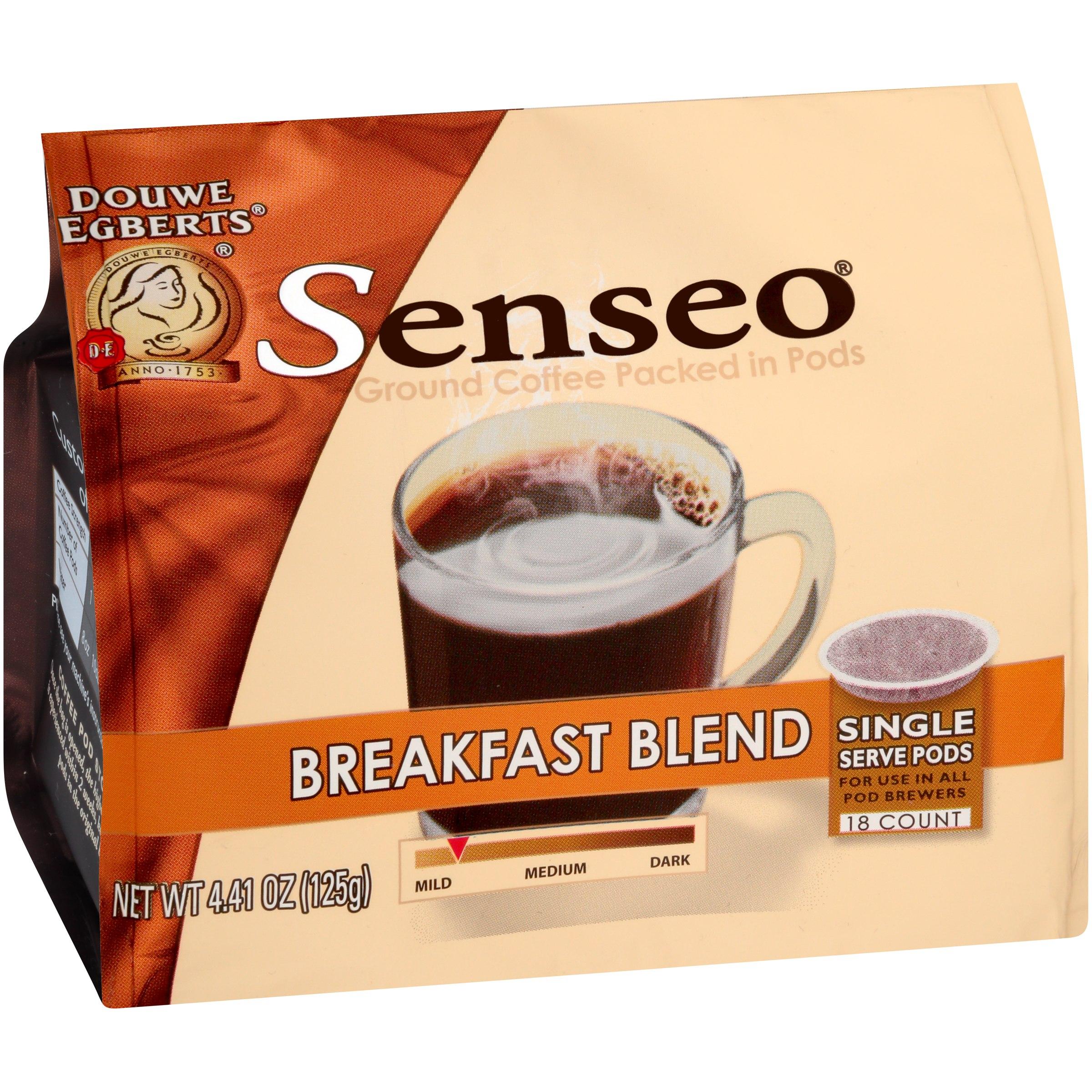 Senseo® Breakfast Blend Ground Coffee 18 ct Single Serve Pods 4.41 oz. Bag