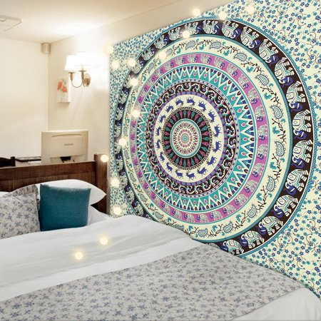 Hippy Home Decor (Mandala Tapestry Wall Hanging,Meigar Tapestry Wall Hanging Mandala Hippie Hippy Tapestries Indian Throw Beach College Dorm Bohemian Bo ho)