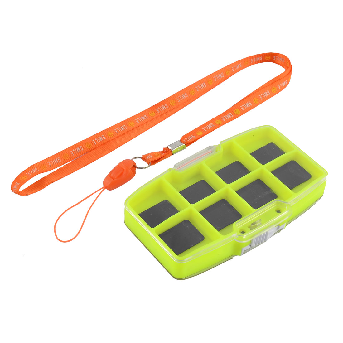 Fishing Magnetic 13 Compartments Fish Tackle Hook Bait Storage Box Case w Strap by Unique-Bargains