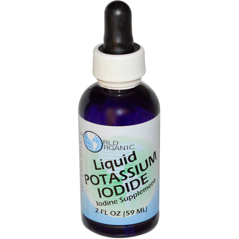 World Organics Liquid Potassium Iodide, 2 OZ (Pack of 2) by World Organics