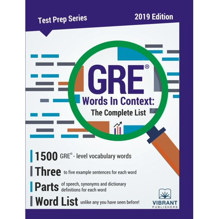 GRE Words In Context: The Complete List - eBook (Halloween Words List)