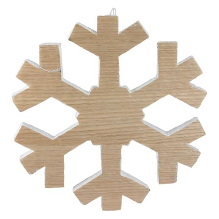 Northlight Natures Luxury Faux Wood Grain Snowflake Christmas Wall Art