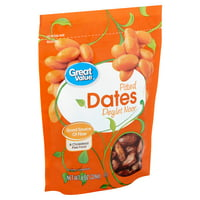 Great Value Pitted Deglet Noor Dates, 8 oz