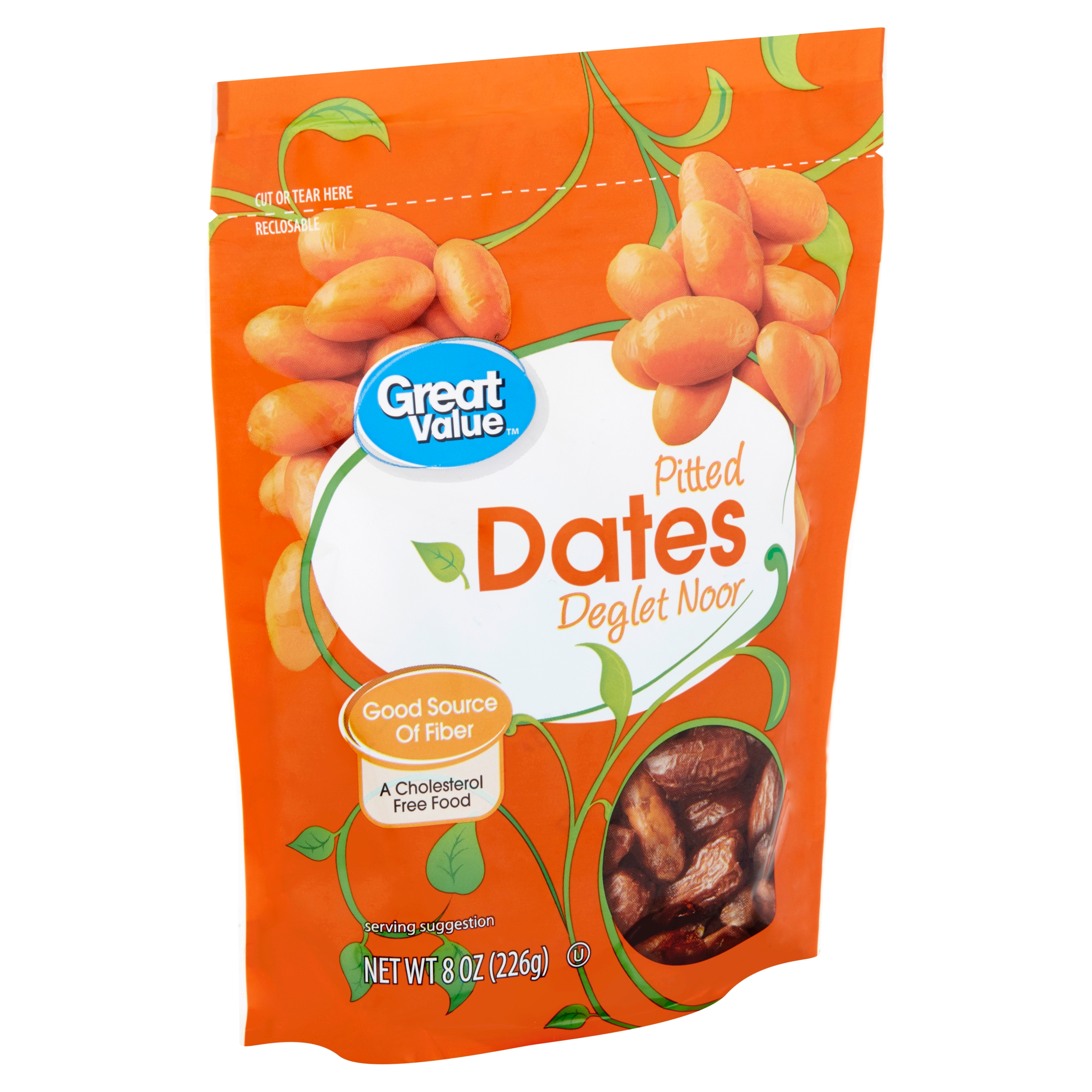 Great Value Pitted Dates Deglet Noor, 8 Oz.