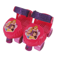 PlayWheels Disney Princess Kids Roller Skates, Junior Size 6-12 with Knee Pads